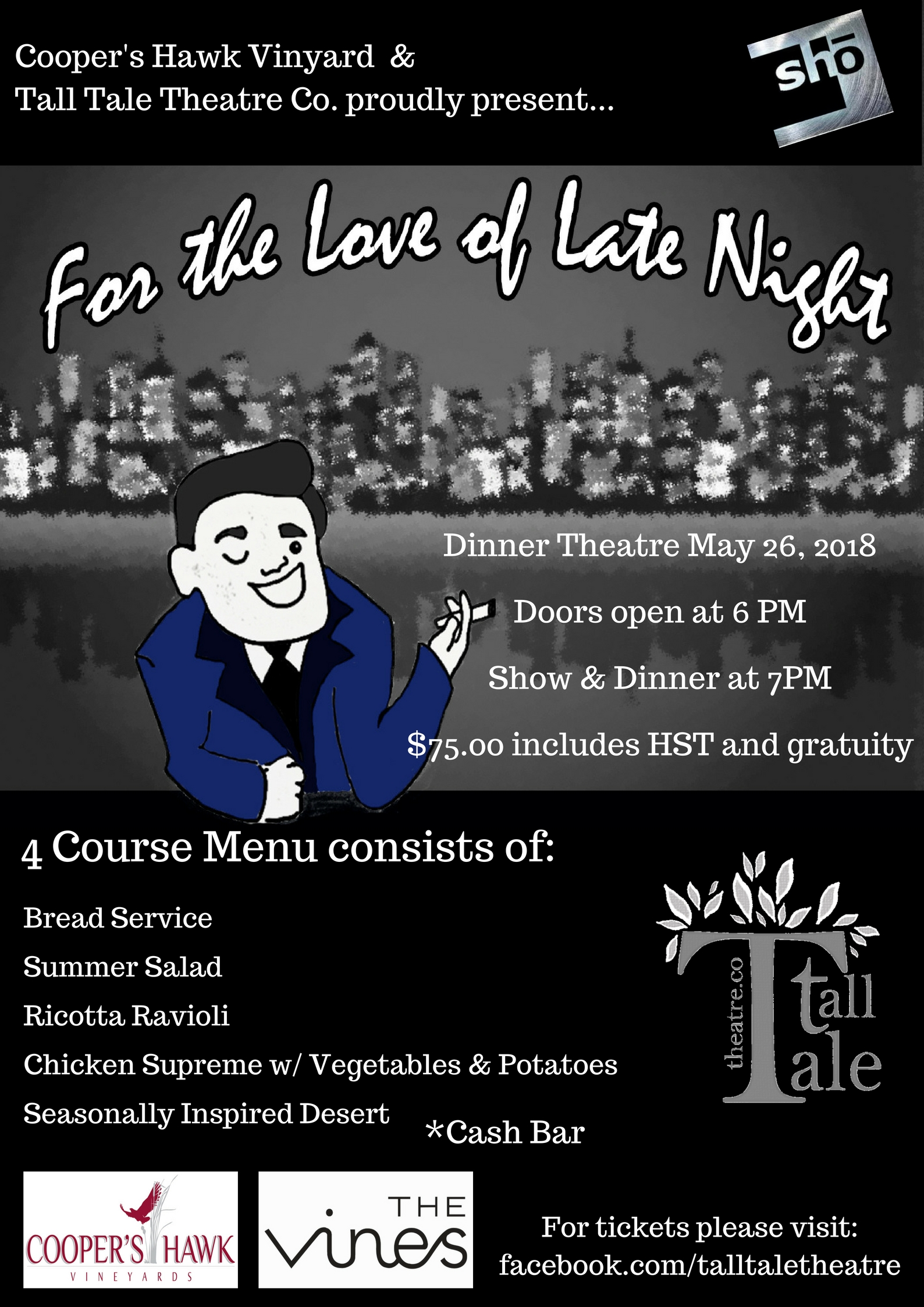 For the Love of Late Night – Dinner Theater at Cooper's Hawk